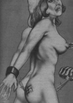 Get a bang out of watching awesome drawings of bondage art
